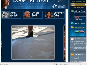 Photo of Sarah Palin and her legs and her sexy shoes
